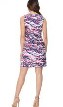Load image into Gallery viewer, Navy and Pink Tiger Scratch V Neck Dress