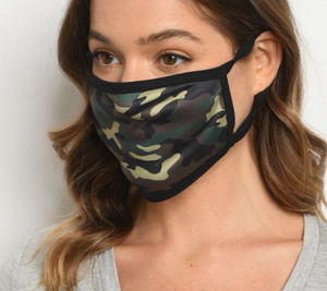 Camo Face Mask - Unisex Adult