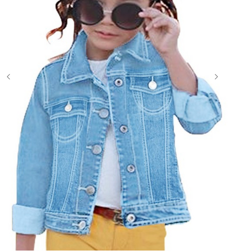 Girls Jean Jacket -Ice Blue