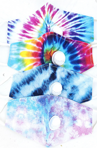 Tie-Dye Face Mask with Vent