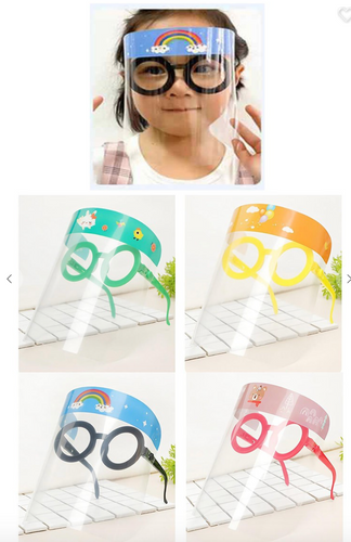 Kids Round Glasses Face Shield