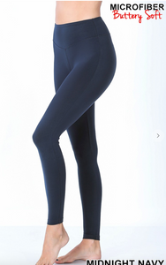 High Waisted Butter Smooth Legging -Navy