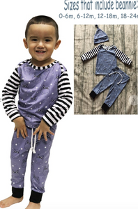 Boys Hippo PJ Set WITH beanie