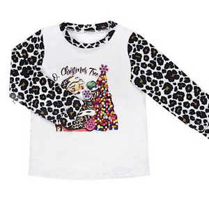 Kids Christmas Leopard Long Sleeve - Coming Soon!