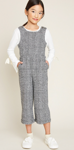 Girls Houndstooth Jumpsuit