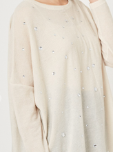 Load image into Gallery viewer, Rhinestone Sweater in Oatmeal