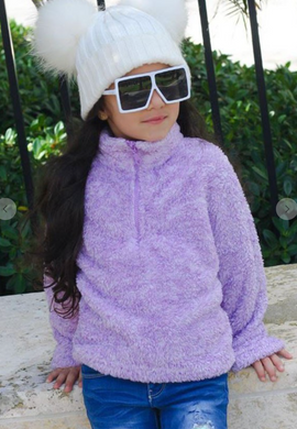 Toddler Fleece Pullover - Purple