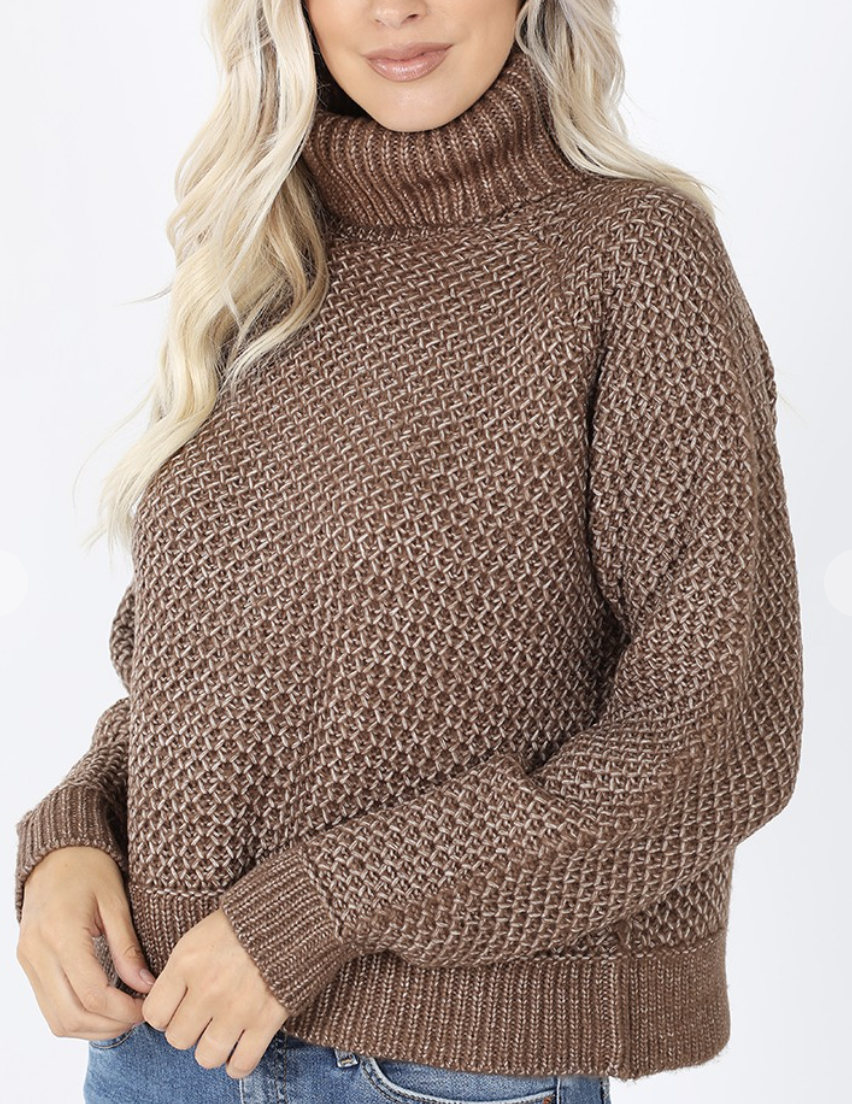 Mocha Turtle Neck Sweater