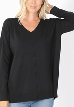 Load image into Gallery viewer, Softest Sweater -Black