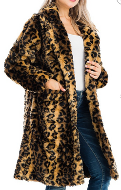 LUX Long Leopard Coat