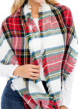 Load image into Gallery viewer, Plaid Infinity Scarf - Black