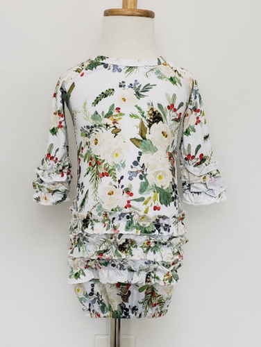Winter Floral Baby Gown