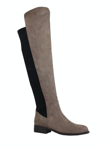 Over the Knee Boots - Taupe