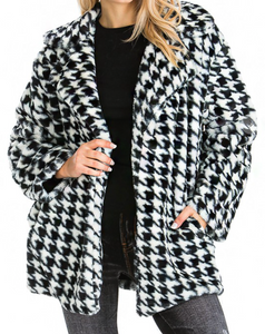 LUX Faux Fur Houndstooth