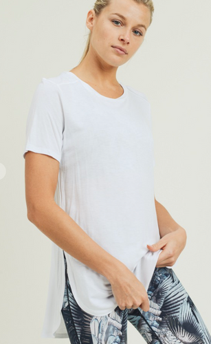 Longline Workout Tee -White