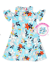 Load image into Gallery viewer, Girls Blue Skies Floral Sundress