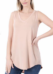 Basic V-Neck Tank (multiple colors)
