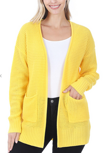 Spring Sweater Cardigan -Yellow