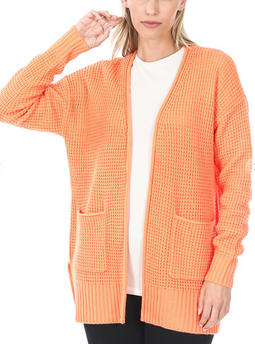 Spring Sweater Cardigan -Peach