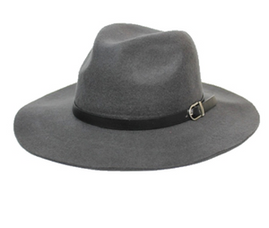 Panama Styled Fall Hat with Real Leather Band