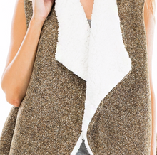 Load image into Gallery viewer, Herringbone Faux Fur Vest -Multiple Colors