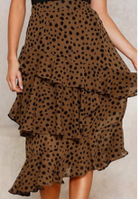 Load image into Gallery viewer, Leopard Themed Cha Cha Skirt