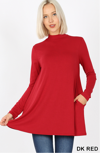 Mock Neck Tunic (+Curvy Gal)