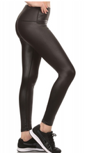 Load image into Gallery viewer, Faux Matte Leather Leggings