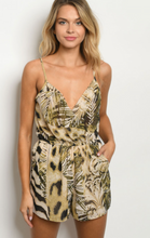 Load image into Gallery viewer, Wild Side Mix Animal Print Golden Romper