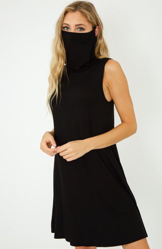 Cowl Neck Mask Dress