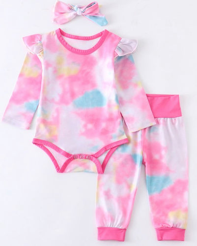 Baby 3pc Tie-Dye Set - In Store Only