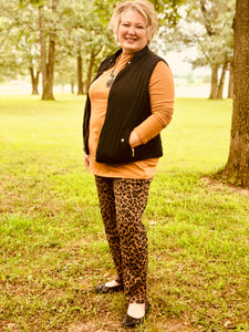 Curvy Gal Mock Neck in Golden Coffee