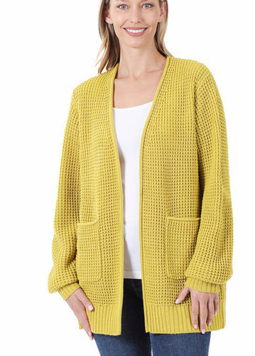 Spring Sweater Cardigan -Kiwi