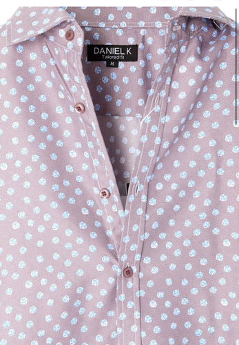 Men's Spring Button Up Lavender and Blue