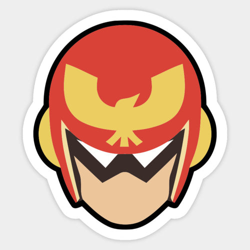 Captain Falcon Stock Icon Die Cut Sticker