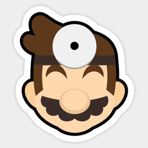 Doctor Mario Stock Icon Die Cut Sticker