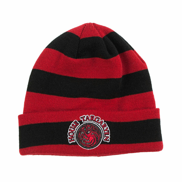 Game Of Thrones House Targaryen Patch Cuff Beanie Hat