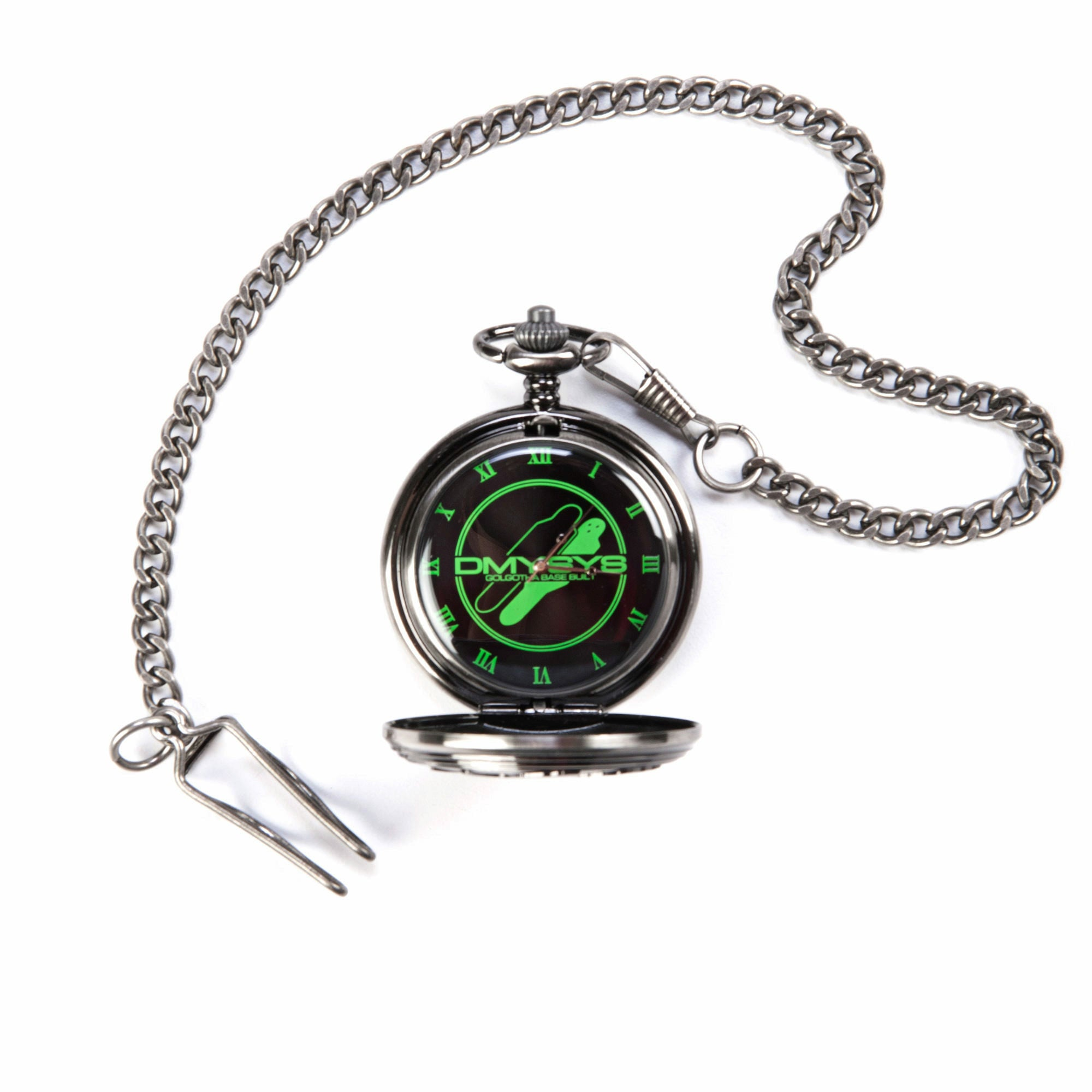 Evangelion 2.0 You Can (Not) Advance Green Dummy System Logo Pocket Watch