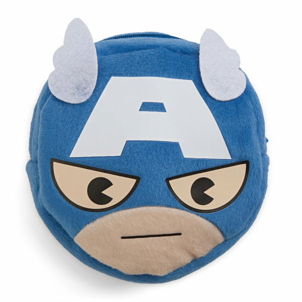 Marvel Kawaii Art Collection Captain America Face Pocket Pouch Bag