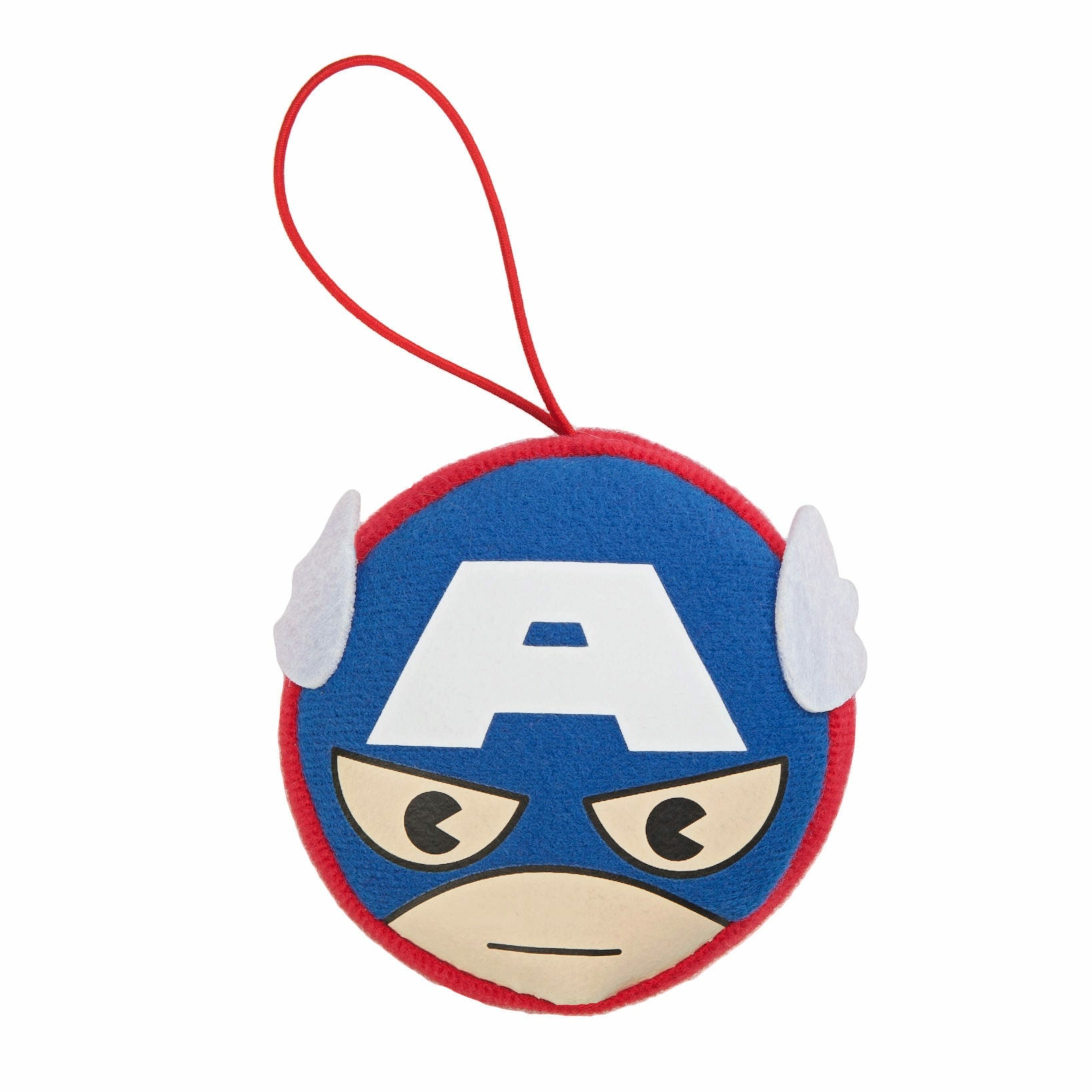 Marvel Kawaii Art Collection Captain America Face Plush Keychain