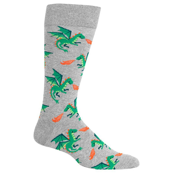 Dragon Men's Grey Crew Socks