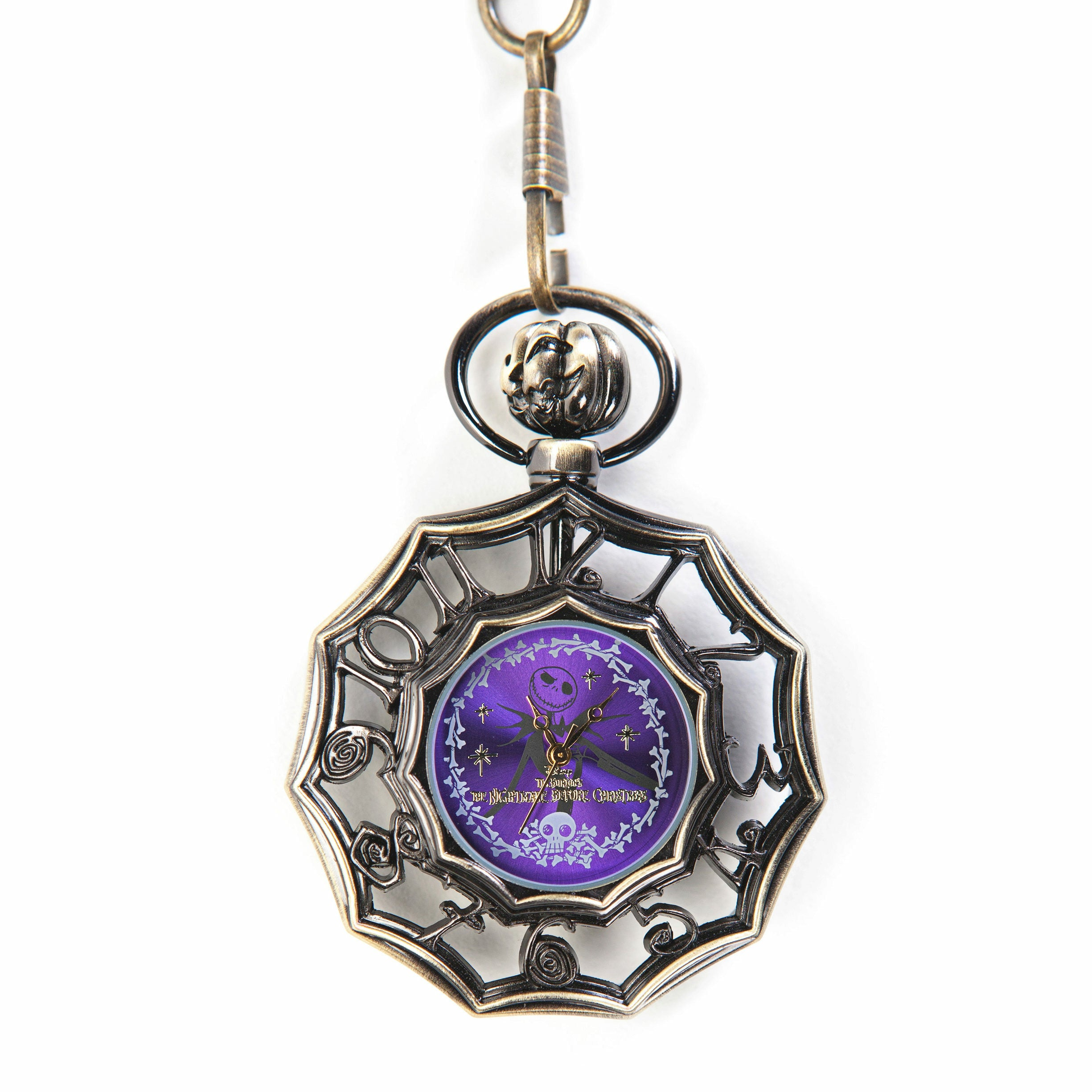 The Nightmare Before Christmas Purple Jack Skellington Pocket Watch