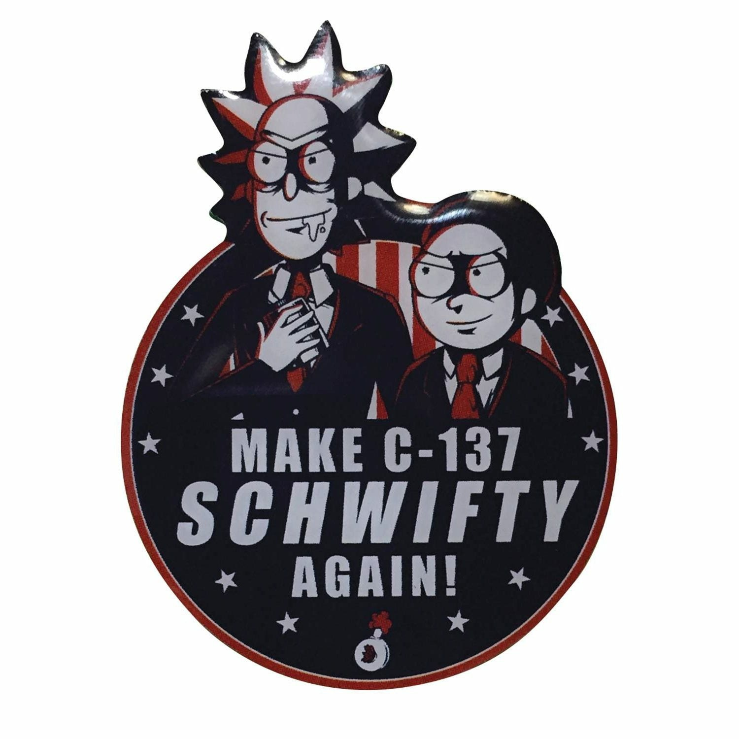 Rick and Morty Make C-137 SCHWIFTY Again! Lapel Pin
