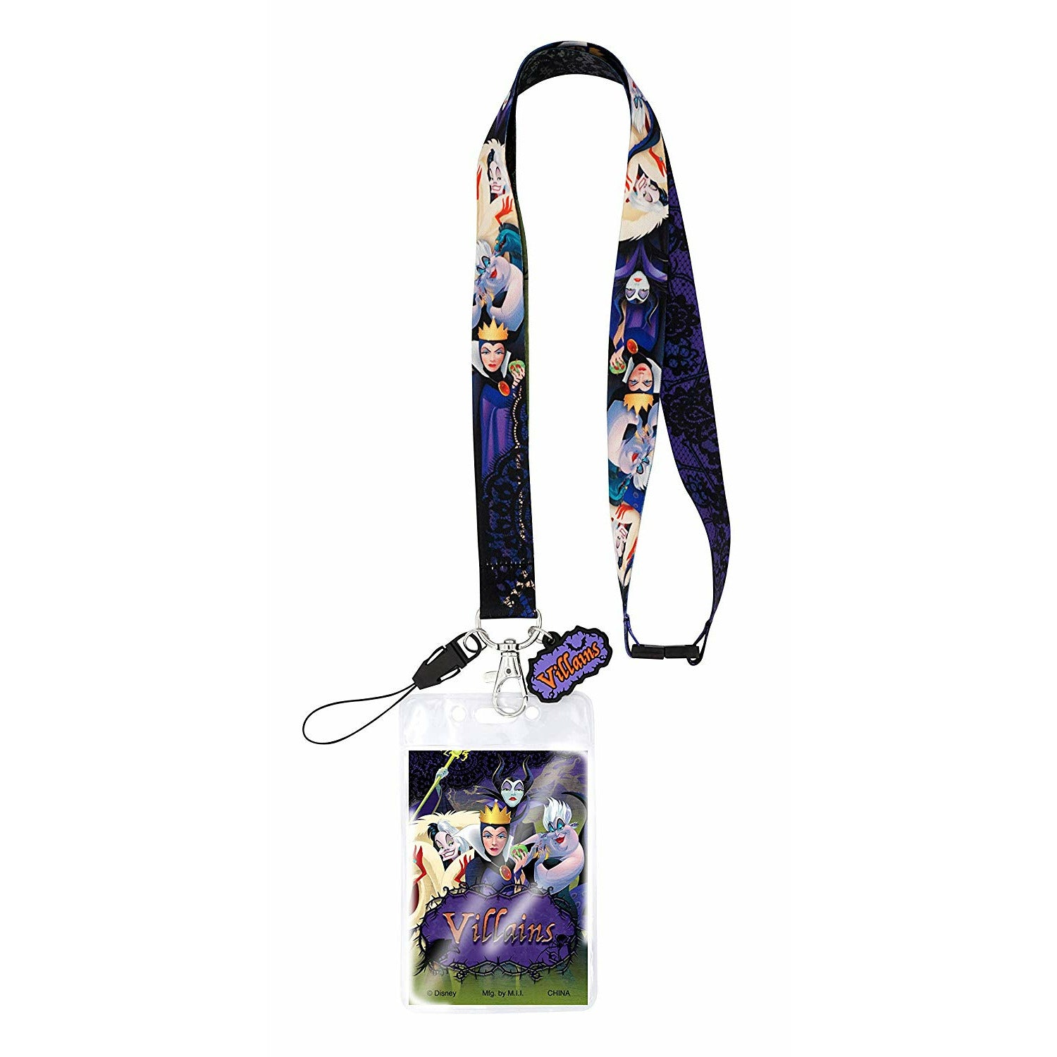 Disney Villains Charm Lanyard