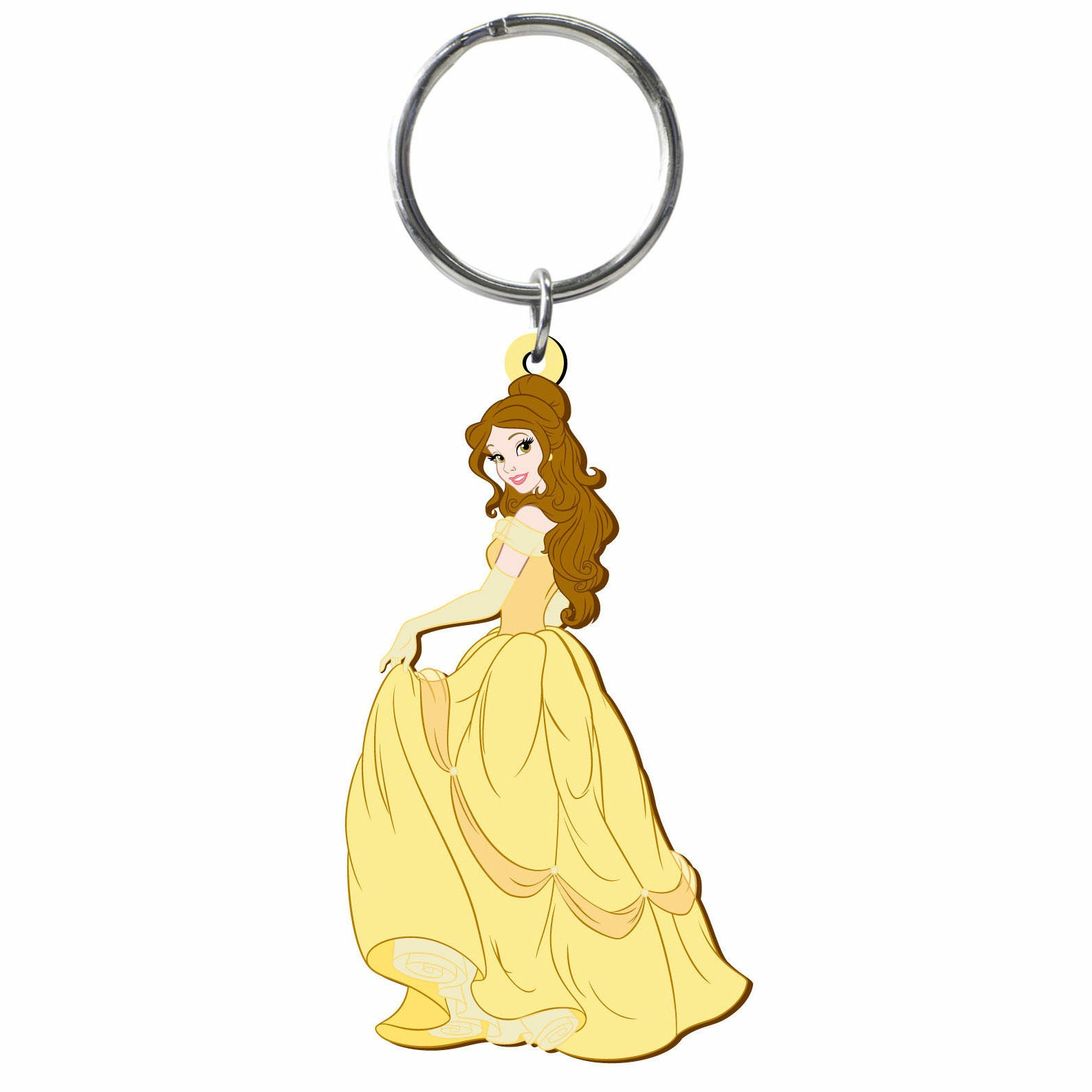 Disney Beauty and the Beast Belle Laser Cut Rubber Keychain
