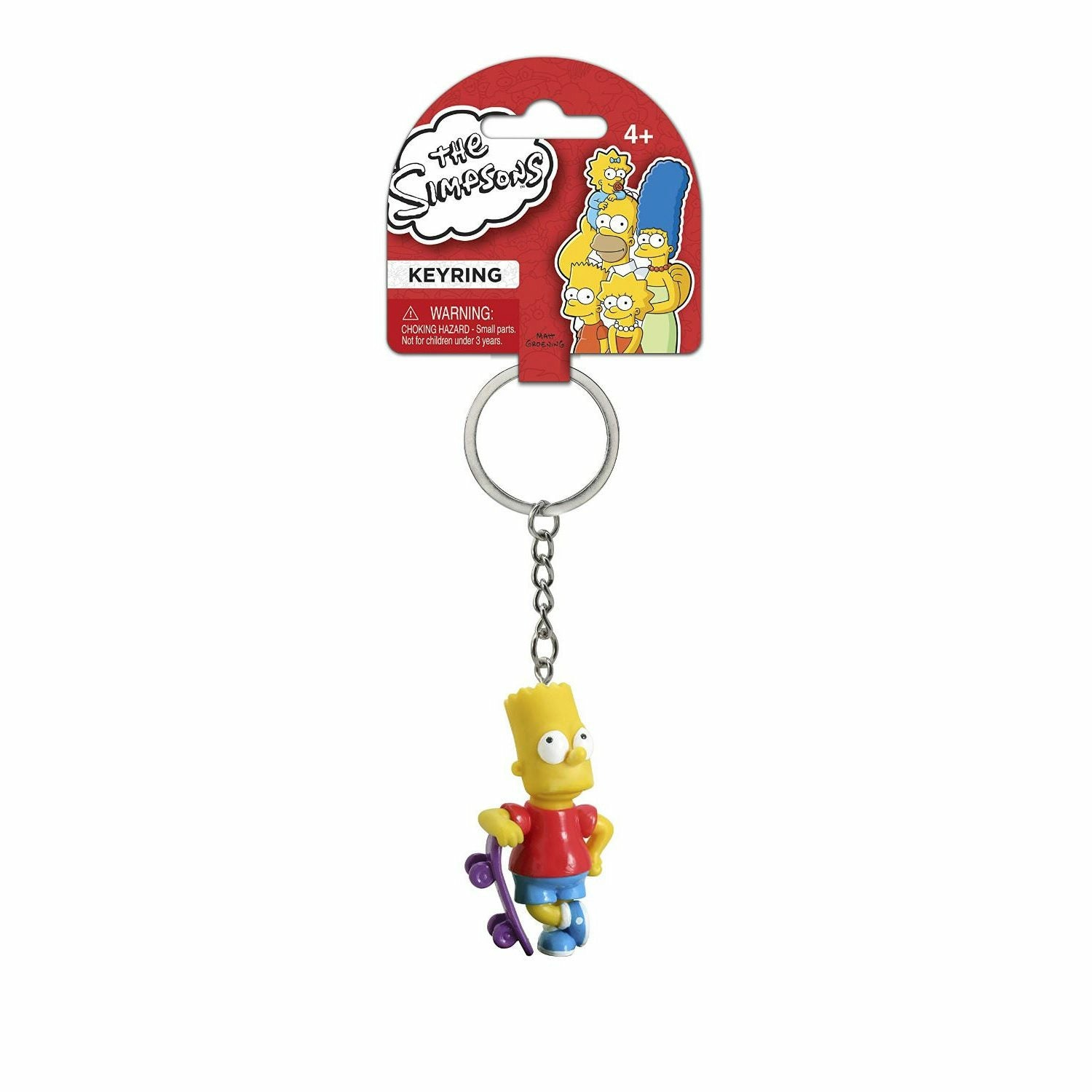 The Simpsons Bart with Skateboard PVC Figural Keychain