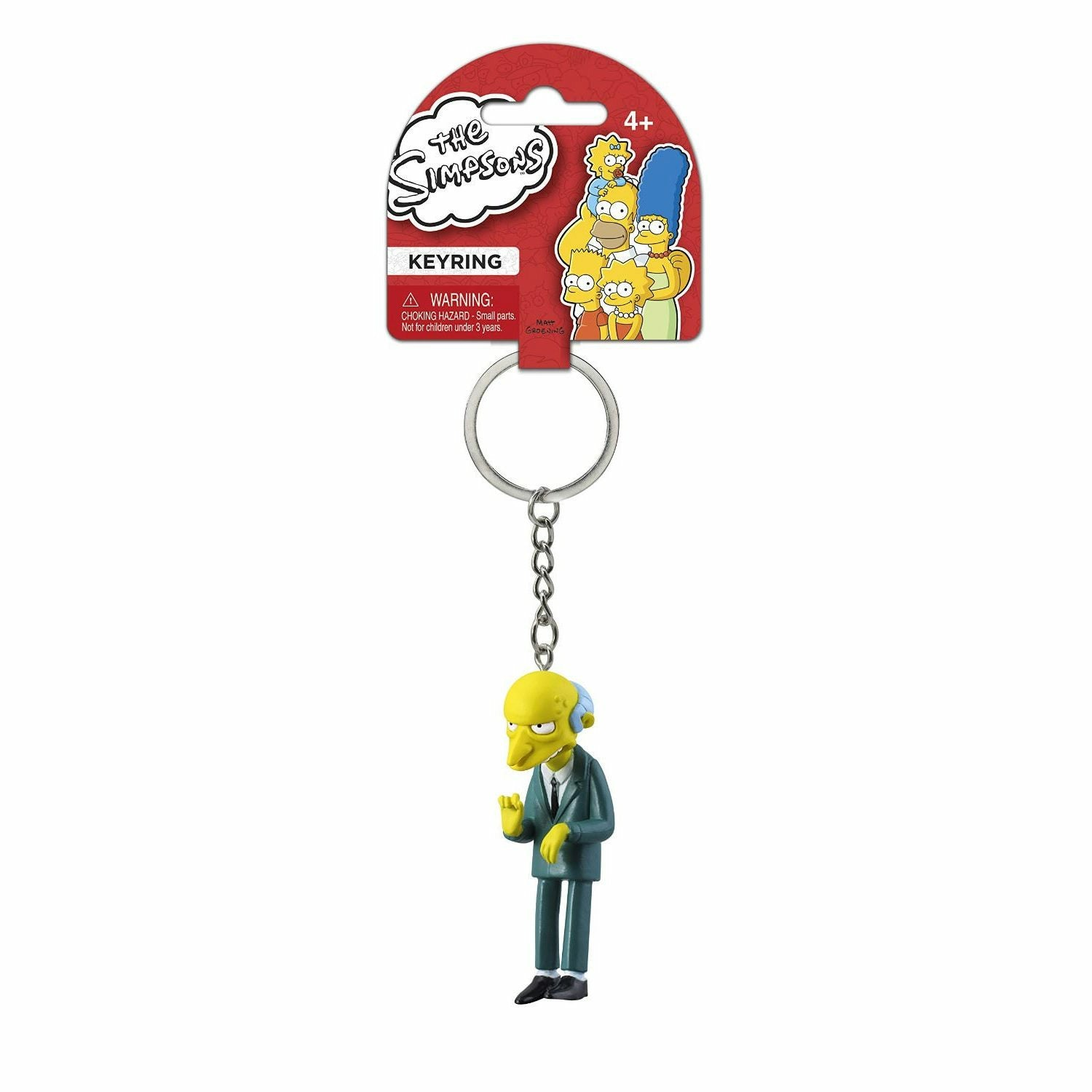 The Simpsons Mr. Burns PVC Figural Keychain