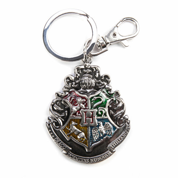 Harry Potter Hogwarts Crest Pewter Keychain