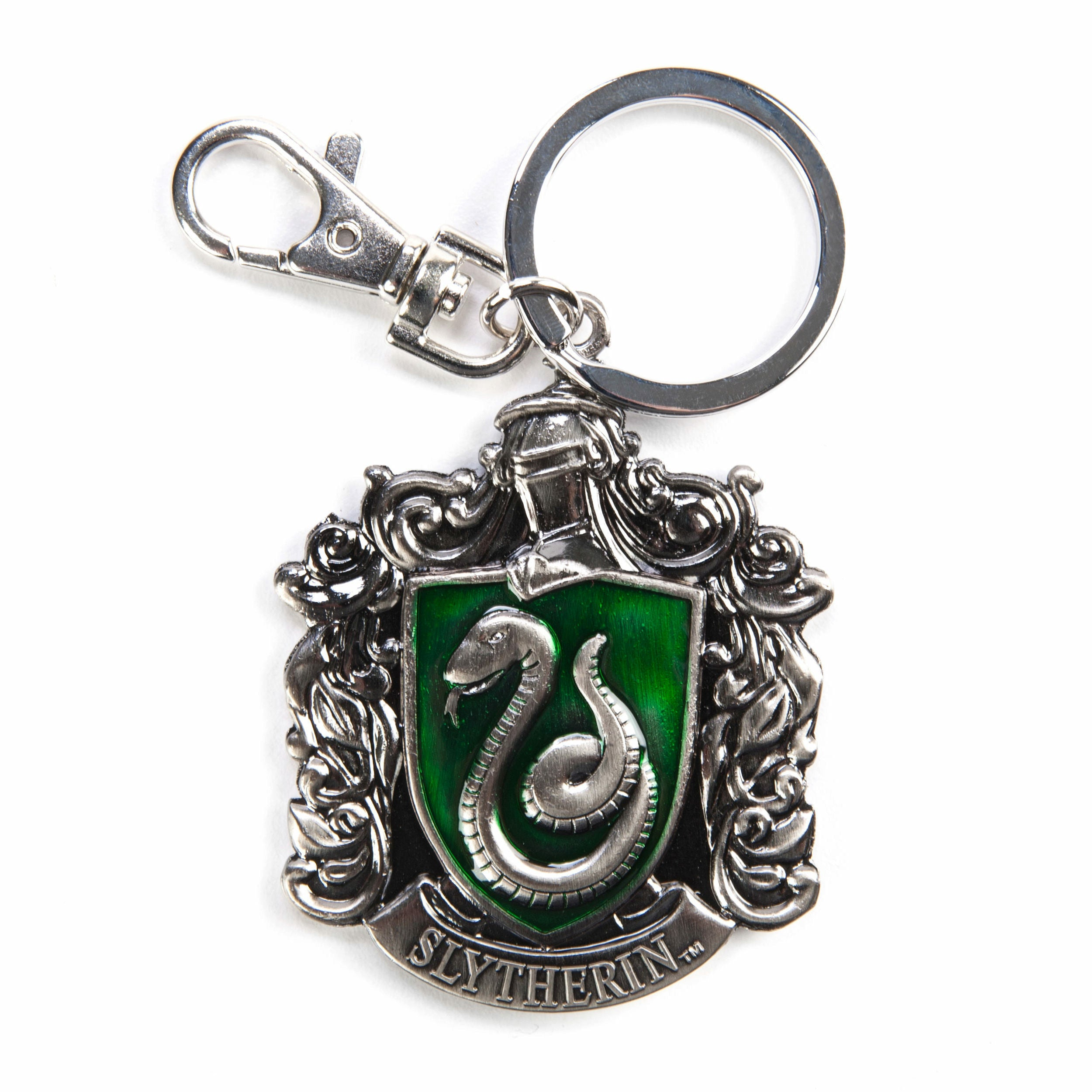 Harry Potter Slytherin Crest Pewter Keychain