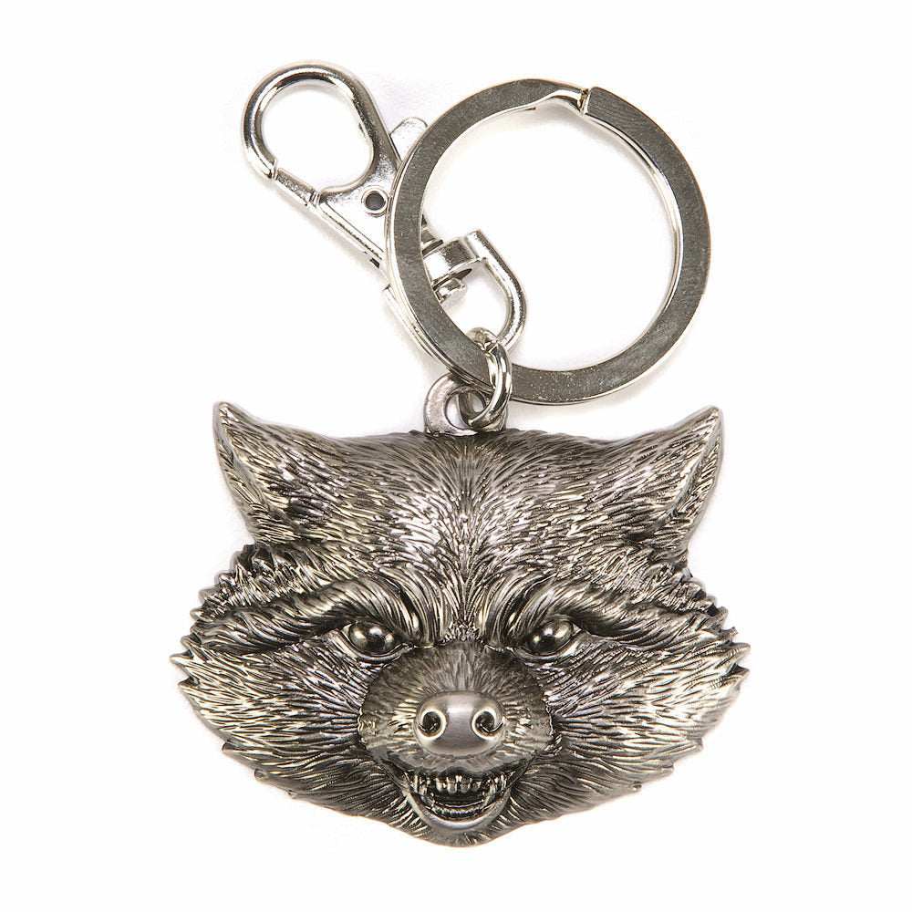 Marvel Guardians of the Galaxy Rocket Raccoon Head Pewter Keychain